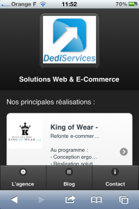 Site mobile DediServices