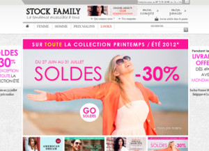Creation charte graphique Soldes Stock family