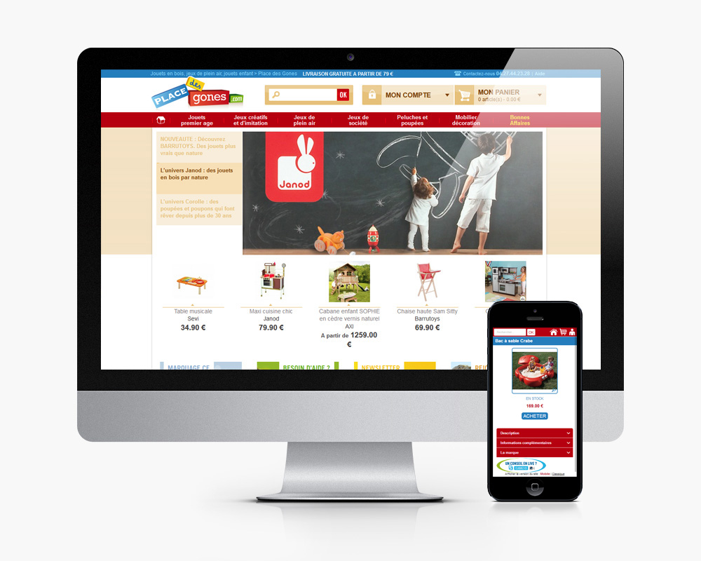 Site e commerce adaptative design