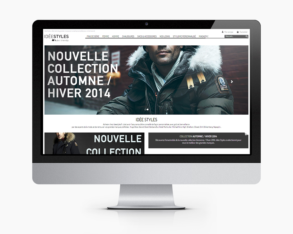 e commerce IdeeStyles accueil