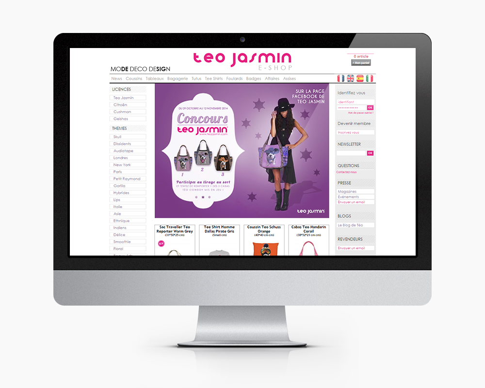teo jasmin page accueil site e commerce femme