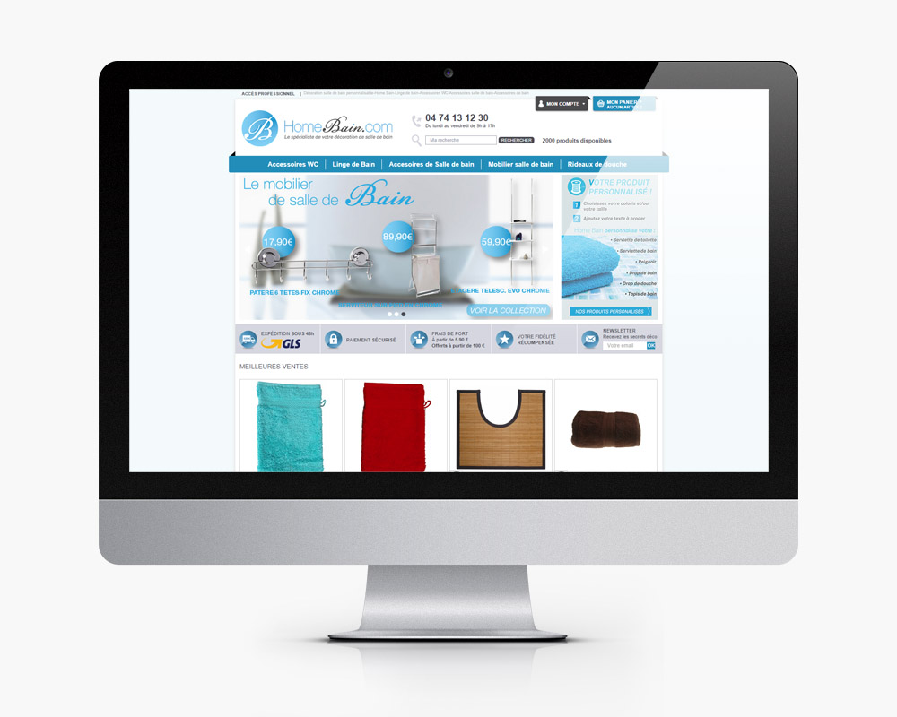 creation refonte site e commerce maison bain